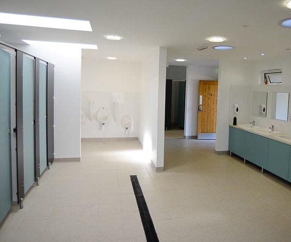 Modern shower facilities
